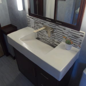 tadelakt custom sink white