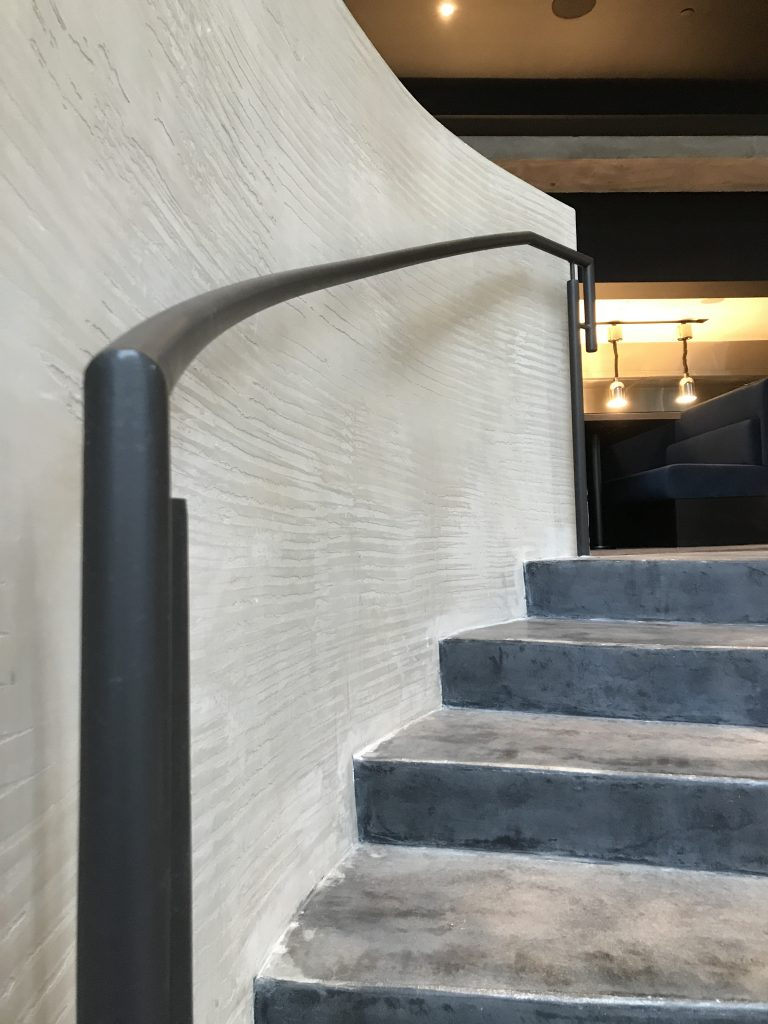 plaster staircase